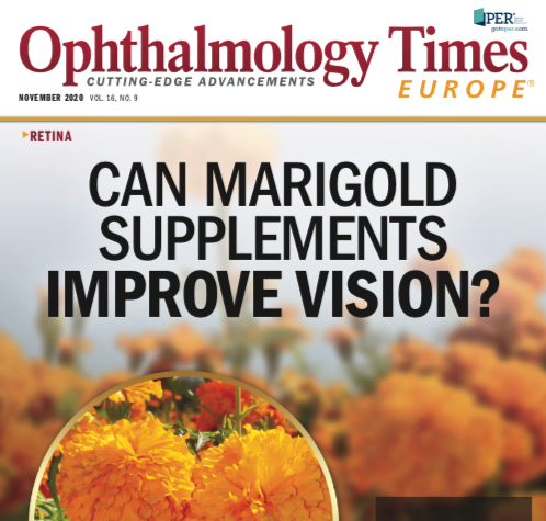 Front cover of the Opthalmology Times Europe Nov 2020